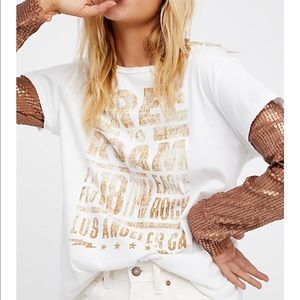 Free People Backstage Graphic Sequin Tee